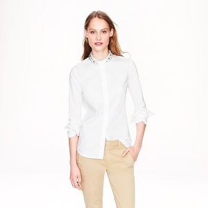 J.Crew Collection Jeweled Collar Boy Blouse